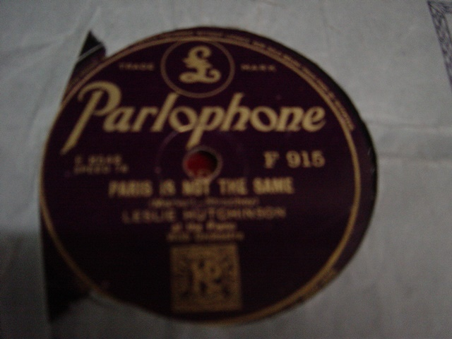 Leslie Hutchinson - Singing for You - Parlophone F. 915