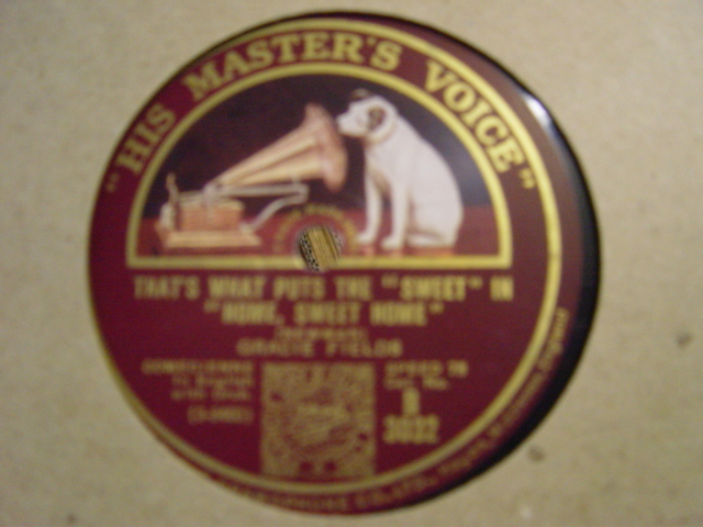 Gracie Fields - Would a Manx Cat - HMV B. 3032