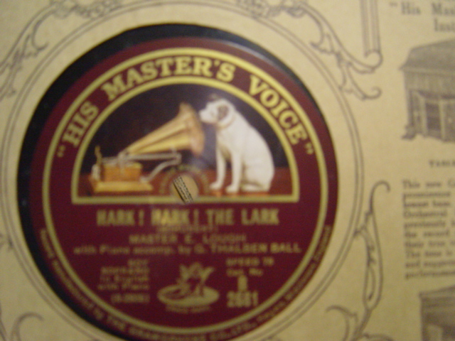 Master E. Lough Boy Soprano - Hark Hark The Lark - HMV B.2681