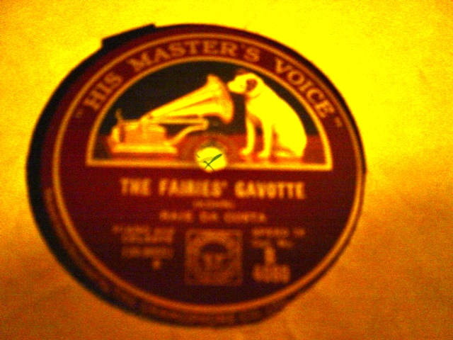 Raie de Costa Piano - The Faries Cavotte - HMV B.4080