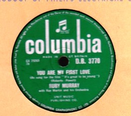 Ruby Murray - You are my first love - Columbia D.B. 3770