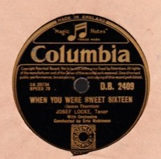 Josef Locke - Count your blessings - Columbia DB. 2409 UK