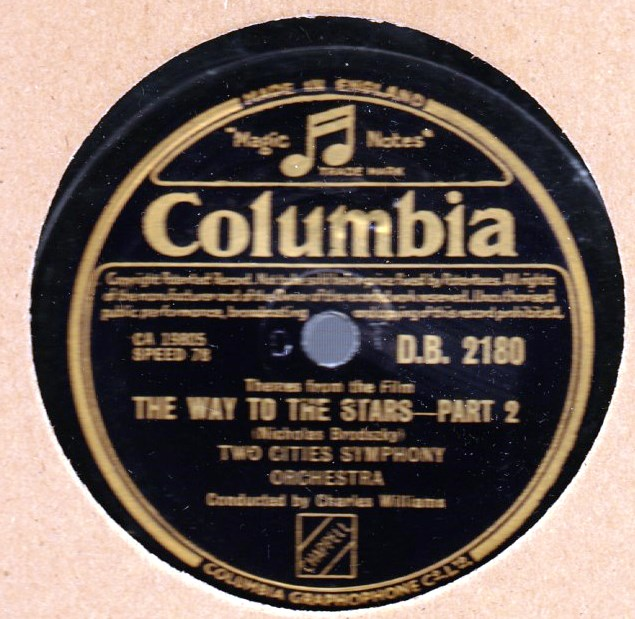 Two Cities Symphony - The Way to the Stars - Columbia DB 2180