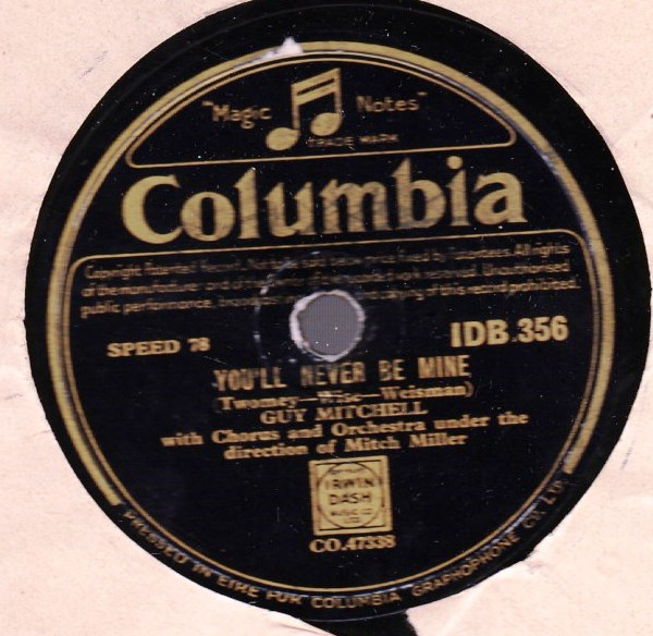 Guy Mitchell - Bay of Jubilo - Columbia IDB 356 Irish