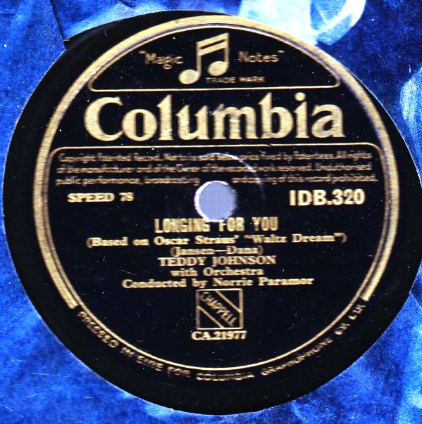 Teddy Johnson - Rosaline - Columbia IDB 320