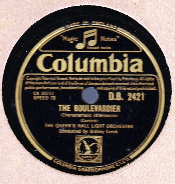Queen's Hall Light Orchestra - Jamaican Rumba - Columbia 2421