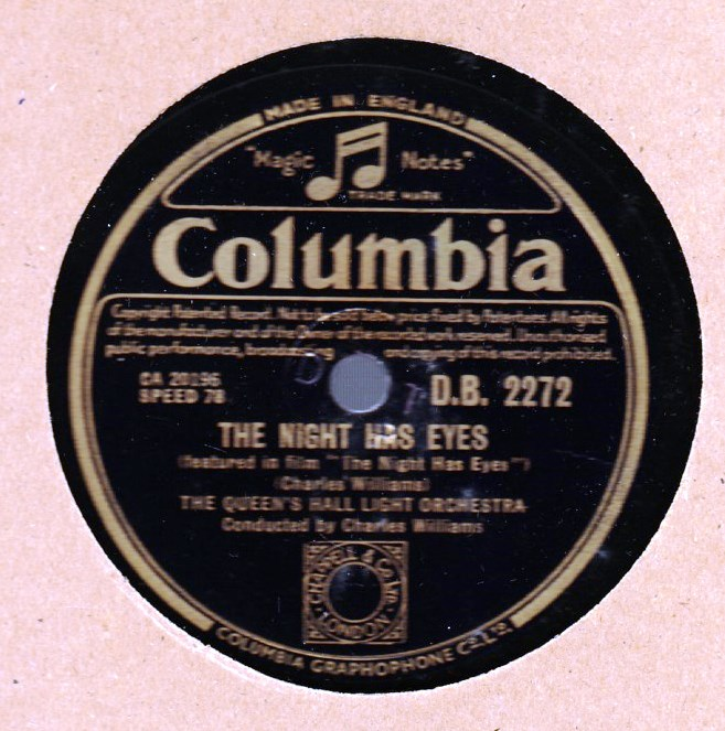 Queen's Hall Light Orchestra - The Night eyes - Columbia 2406