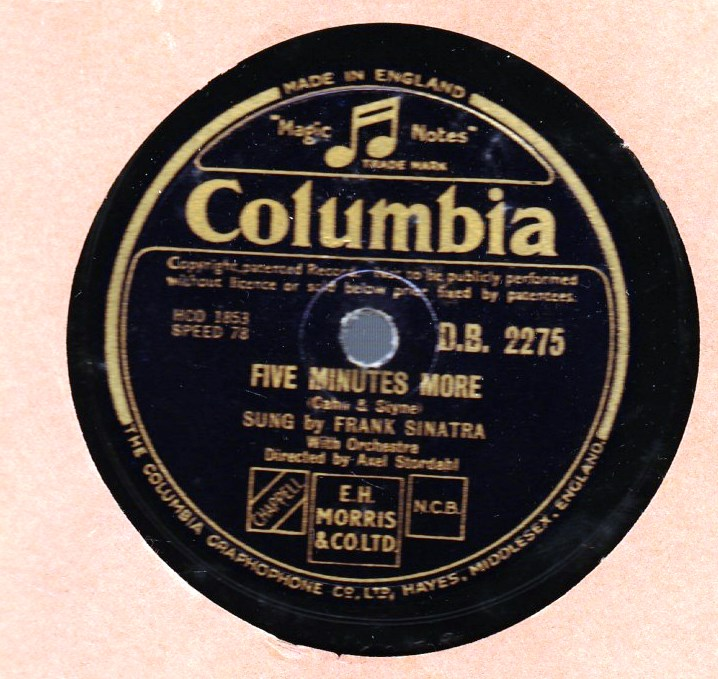 Frank Sinatra - Try a little Tenderness - Columbia DB 2275