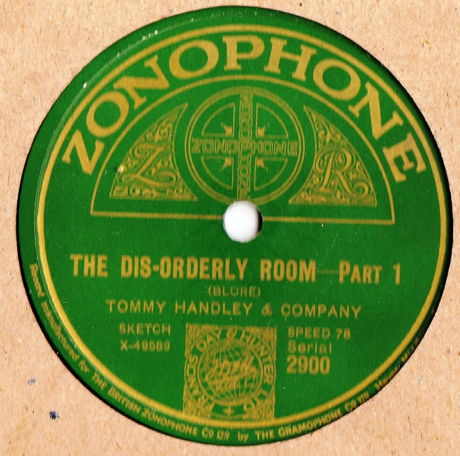 Tommy Handley - The Dis-orderly Room - Zonophone 2900