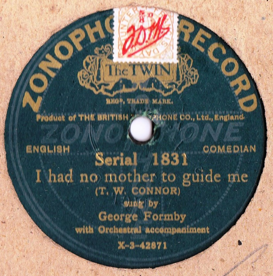 George Formby - Kind words never Die - Zonophone 1831