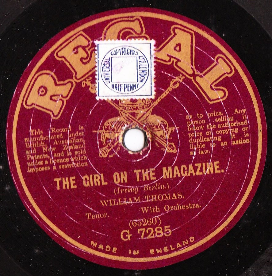William Thomas - The Girl on the Magazine - Regal G.7285