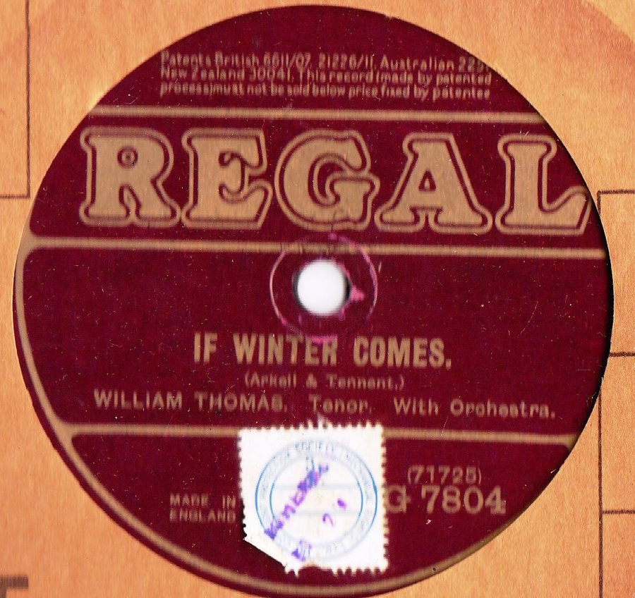 Fred Douglas - If winter comes - Regal G.7804