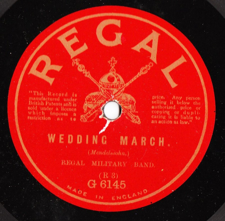 Regal Military Band - Wedding March - Regal G.6145