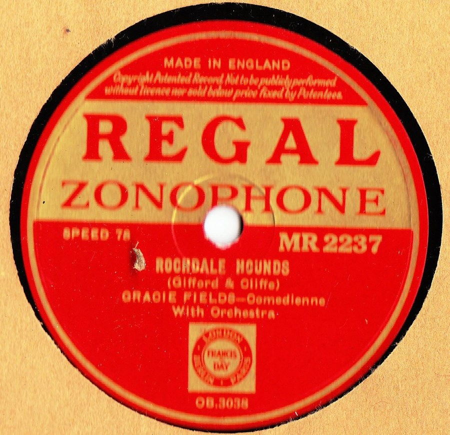 Gracie Fields - Rochdale Hounds - Regal MR 2237