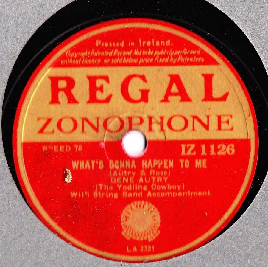 Gene Autry - Be honest with me - Regal IZ 1126