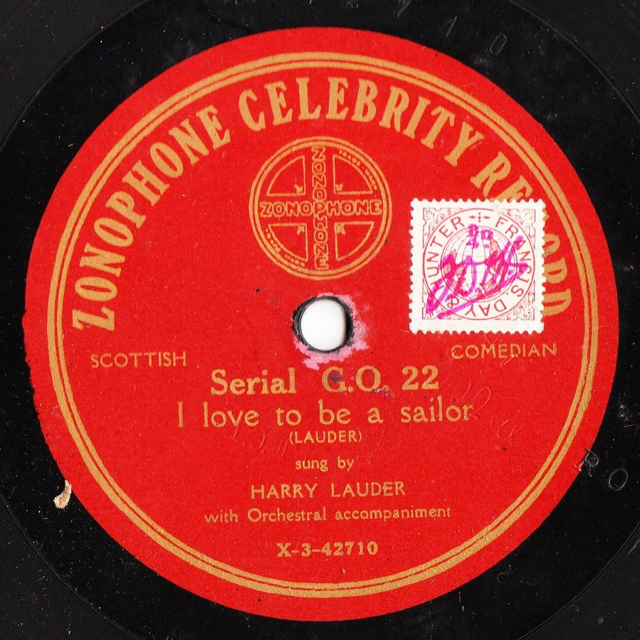 Harold Wilde - I'm going to marry - arry - Zonophone G.O. 22