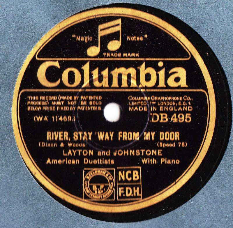 Layton & Johnstone - River stay 'way from my Door - Columbia 495