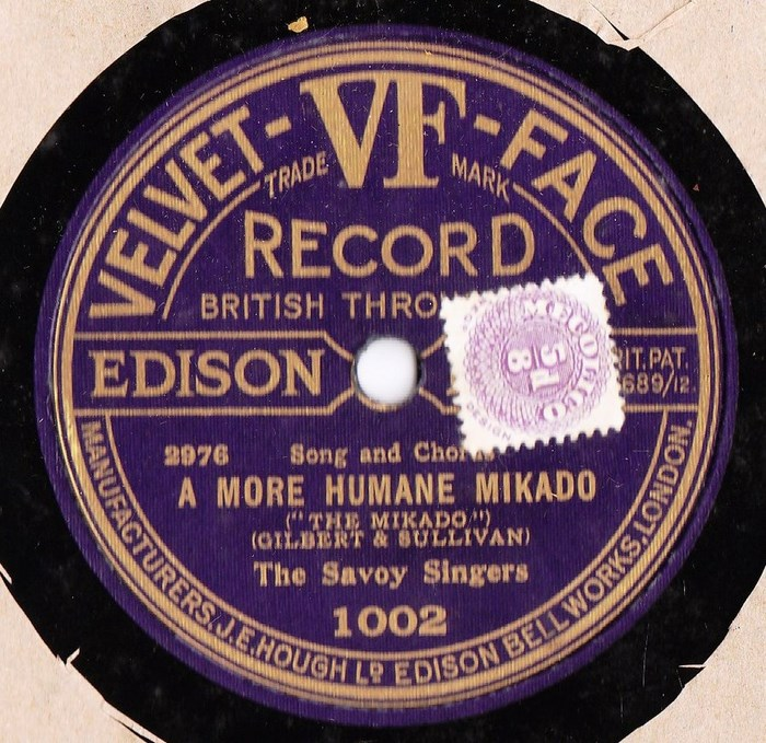 The Savoy Singers - The Mikado - Velvet Face 1002