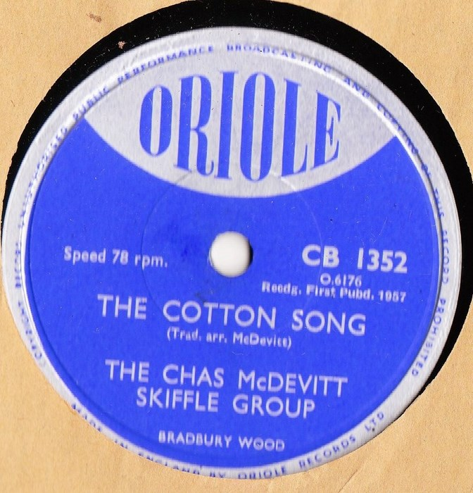 Chas McDevitt Skiffle - The Cotton Song - Oriole CB 1352