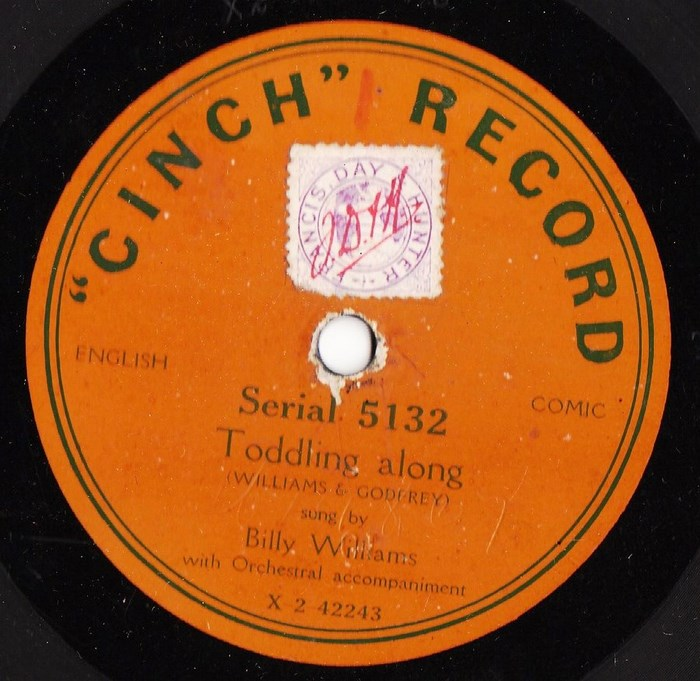 Billy Williams - Comedian - Toddling along - Cinch 5132
