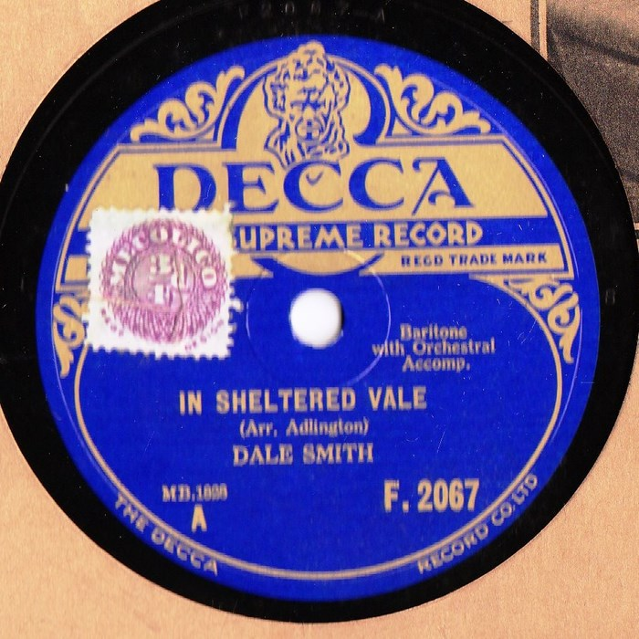 Dale Smith - In a sheltered Vale - Decca F.2067