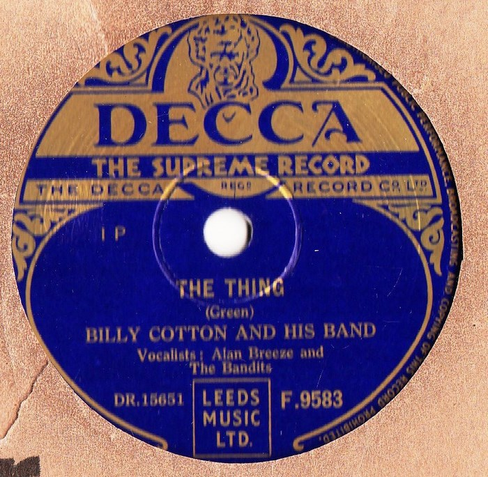 Billy Cotton - The Flying Saucer - Decca F. 9583