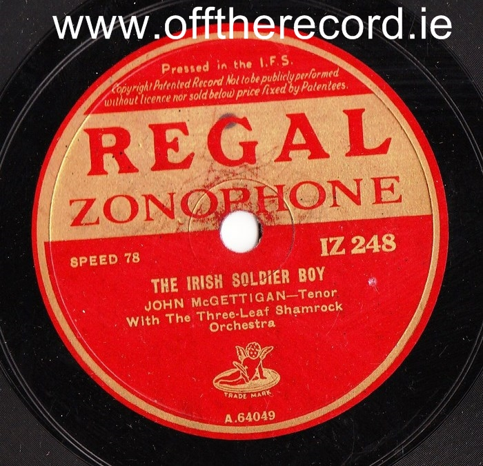 John McGettigan - Rambling Irishman - Regal IZ 248