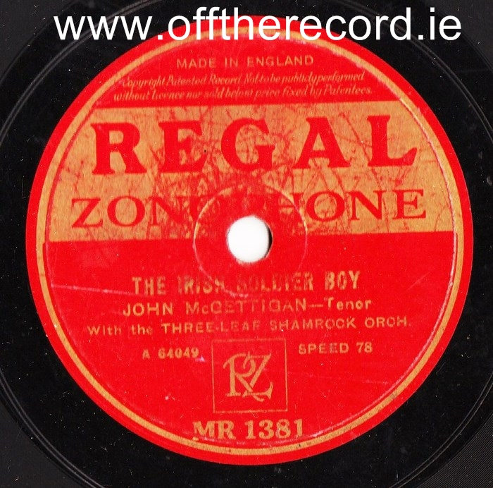 John McGettigan - Rambling Irishman - Rega MR 1381