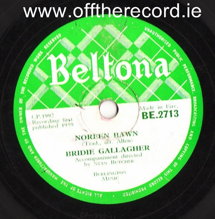 Bridie Gallagher - Noreen Bawn - Beltona 2713