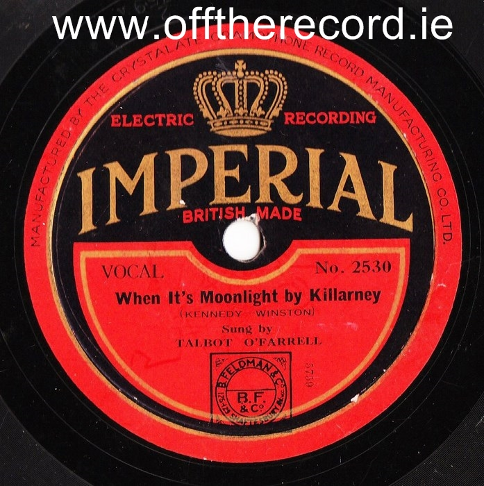 Talbot O'Farrell - Heaven sent wonderful You - Imperial 2530