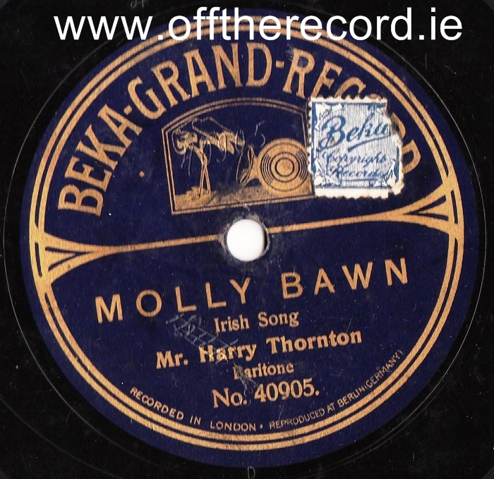 Harry Thornton - Molly Bawn - Beka Records 334