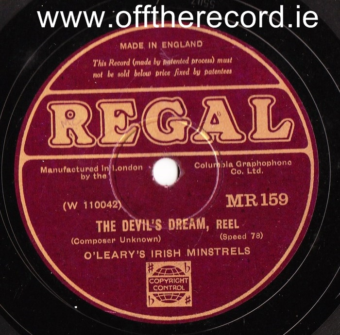 O'Learys Irish Minstrels - Reels & Hornpipes - Regal MR 159