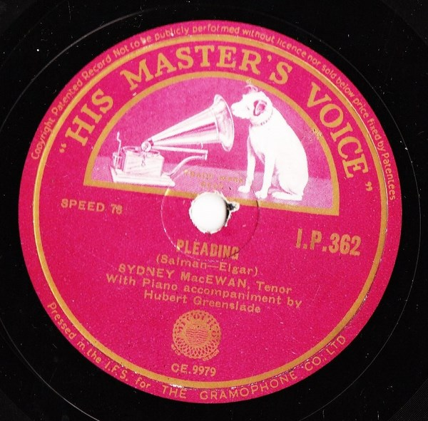 Sydney MacEwan - Pleading - HMV IP. 362 Irish