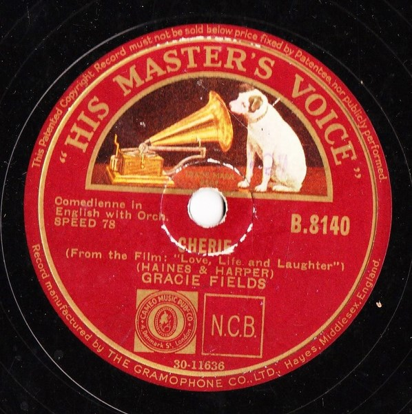 Gracie Fields - Cherie - HMV B.8140
