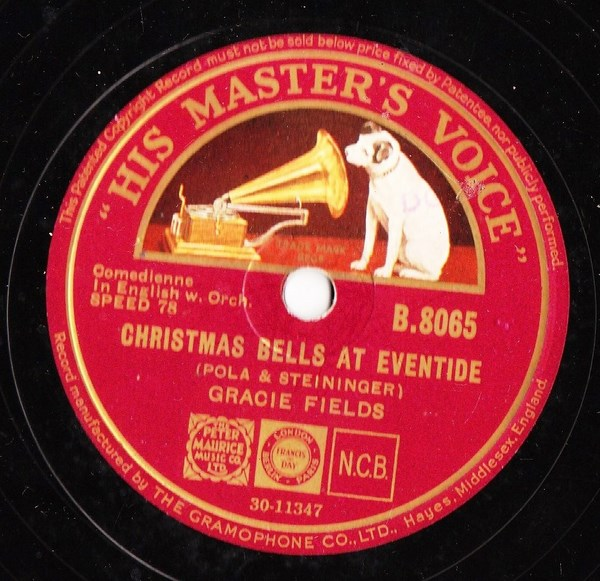 Gracie Fields - Christmas Bells at Eventide - HMV B.8065
