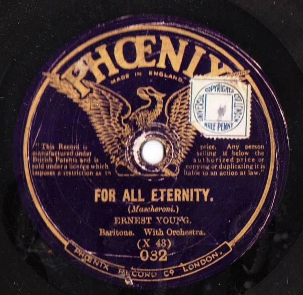 Ernest Young - For all eternity - Phoenix Records 032