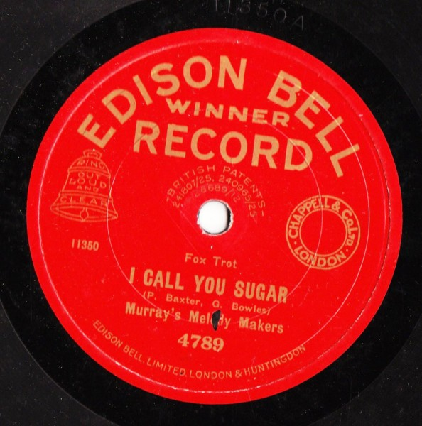 Murray's Melody Makers - I ain't got nobody - Edison Bell 4789