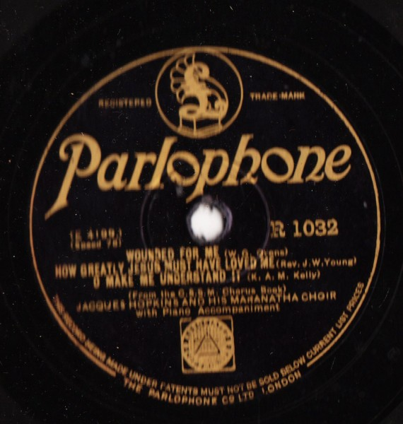 Jacques Hopkins & Maranatha Choir - Parlophone R.1032