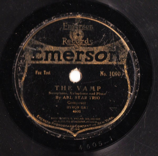 All Star Trio - The Vamp / In Siam - Emerson 1090 USA