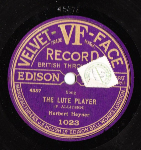 Herbert Heyner - The Lute Player - Velvet Face 1023