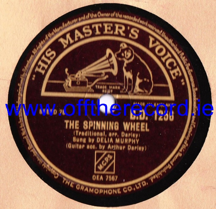 Delia Murphy - The Spinning Wheel - HMV BD. 1256