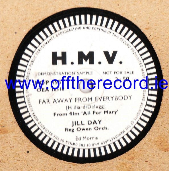 Jill Day - Far away from everybody - HMV POP 158 Demo