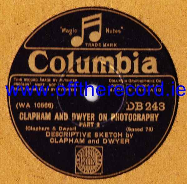 Clapham & Dwyer - On Photography - Columbia DB.243
