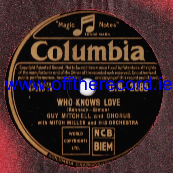 Guy Mitchell - Who knows love - Columbia DB.2885
