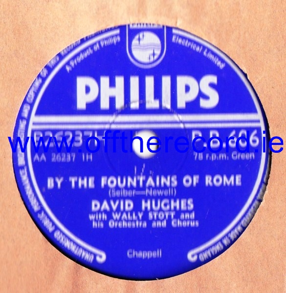 David Hughes - By the fountains of Rome - Philips PB.606