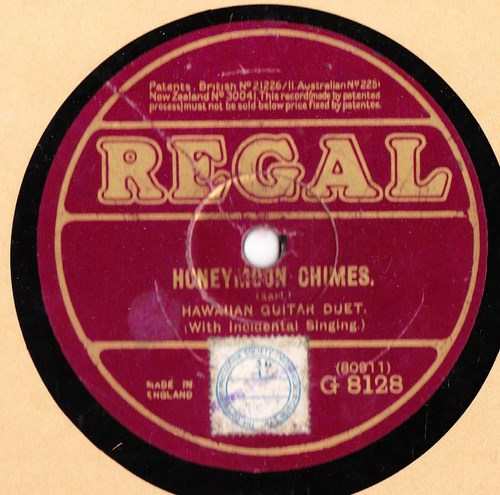 Hawaiian Instrumental Quartette - Kawaihau - Regal G 8128