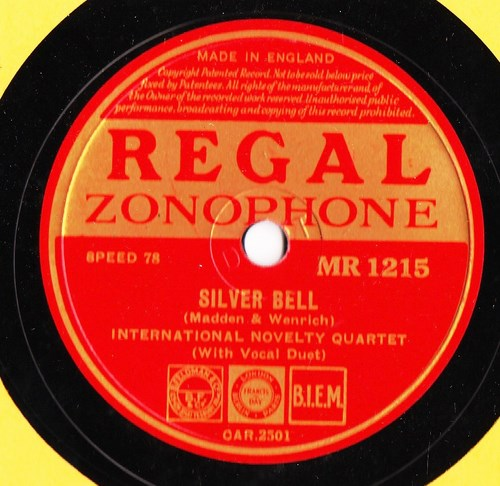 International Novelty Quartet - Silver Bell - Regal MR. 1215