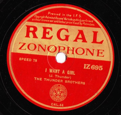Rhe Thunder Brothers - I want a girl - Regal IZ 695