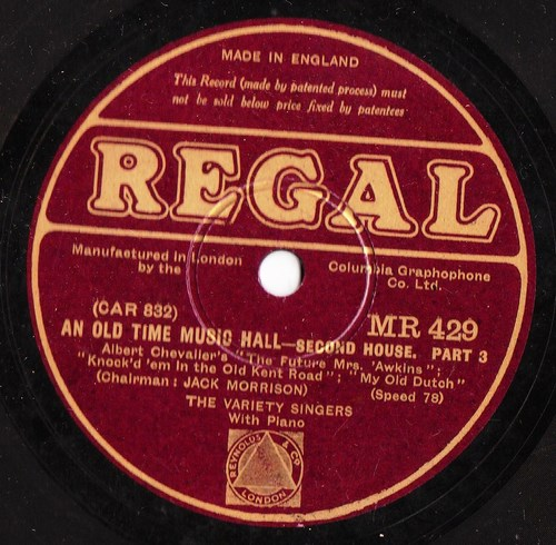 The Variety Singers - An old time Music Hall - Regal MR 429