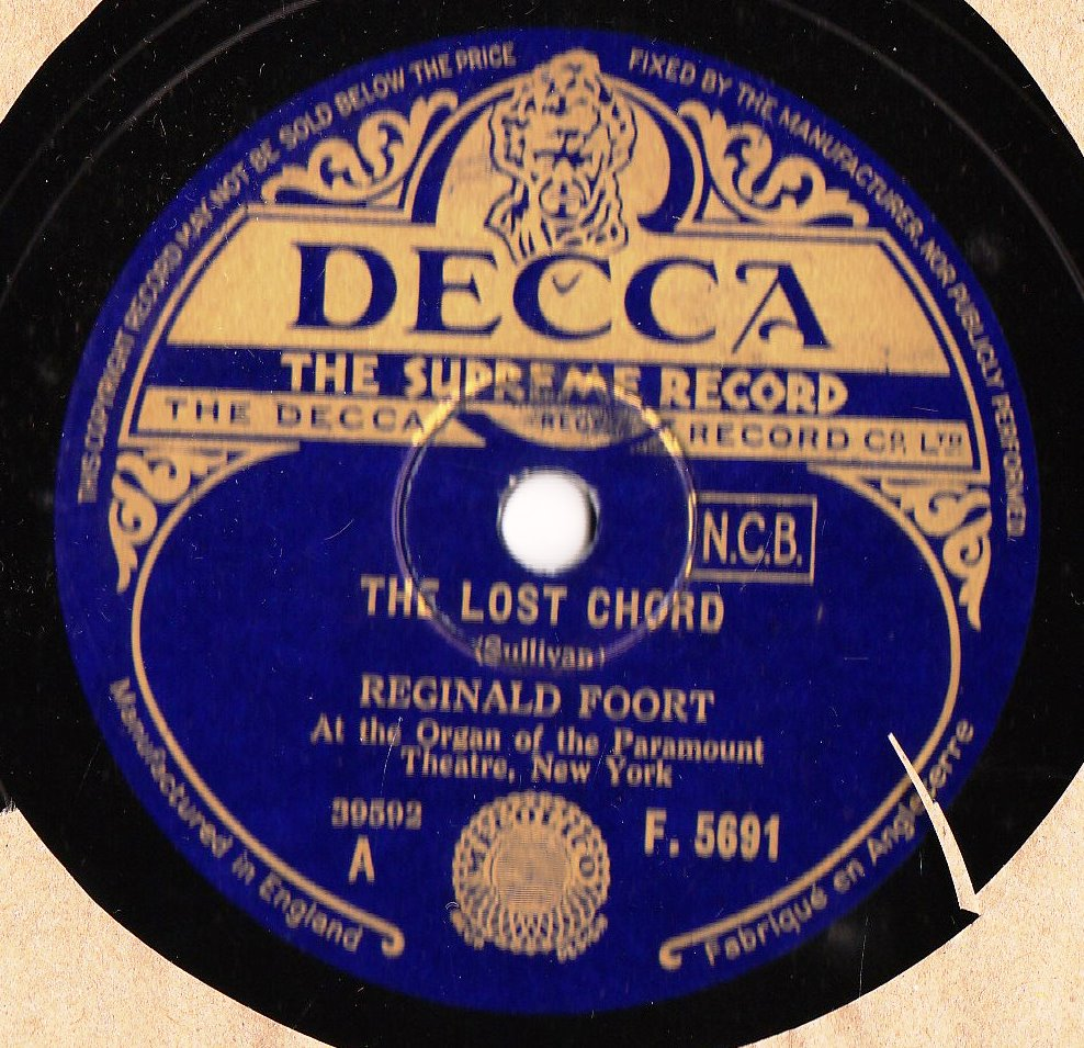 Reginald Foort - The Lost Chord - Decca F.5691